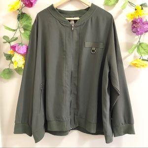Pennington's Dark Olive Green Bomber Jacket